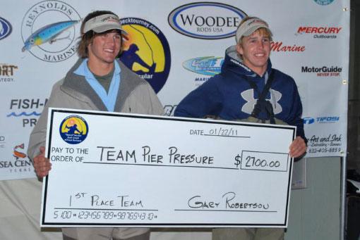 Chandler Faickney - Jan 2011 1st Place Winners 'Speck Tacular' Gulf Coast Tournament Series